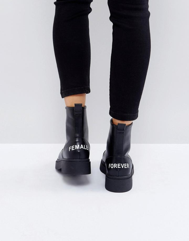 a852b4c7046 Asos Azra Chunky Ankle Boots - Black | LookMazing