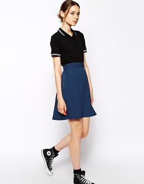Pop Boutique Pleated Mini Skirt - Navy