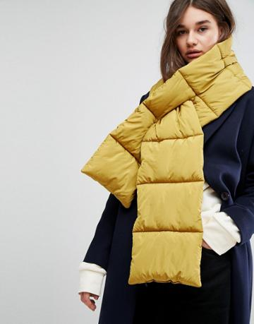 Asos Quilted Scarf - Yellow