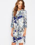 Warehouse Stem Floral Shift Dress - Multi