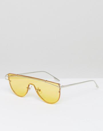 Jeepers Peepers Yellow Tinted Lens Visor Sunglasses - Yellow