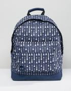 Mi-pac Backpack With Arrow Print - Navy