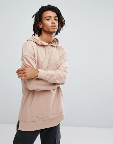 New Look Dropped Shoulder Sweatshirt In Nude - Pink
