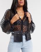 Asos Design Multi Pocket Waist And Hip Belt In Black