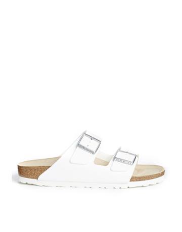 Birkenstock Arizona White Flat Sandals