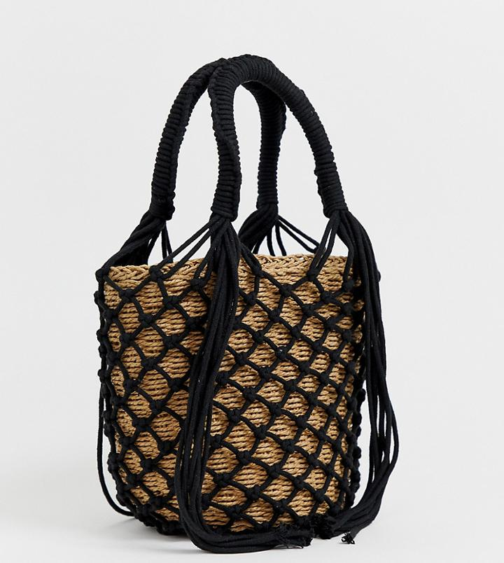 My Accessories London Exclusive Woven Straw Grab Bag Bag - Multi