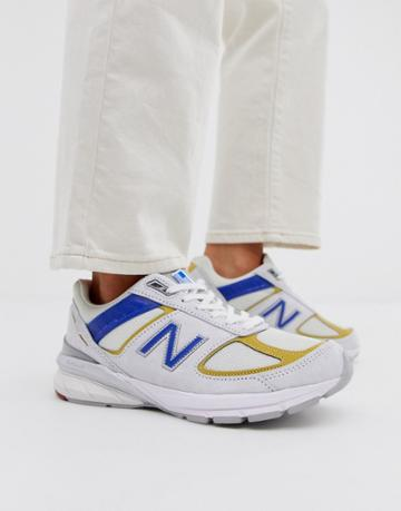 New Balance 990 Sneakers In White Made In Usa