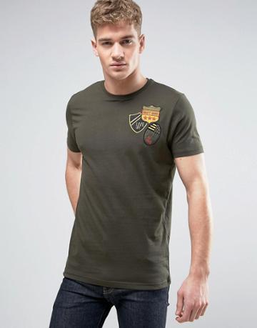 Brave Soul Bagde T-shirt - Green