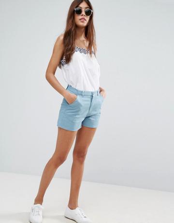 Asos Chino Shorts - Blue