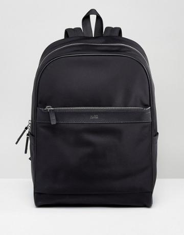 Hugo By Hugo Boss Nylon And Leather Backpack Black - Black