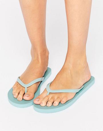 Vero Moda Plain Flip Flops - Blue