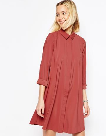 Asos Shirt Dress - Clay