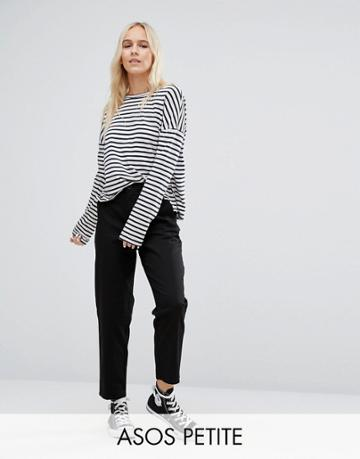 Asos Petite Chino Pants - Black