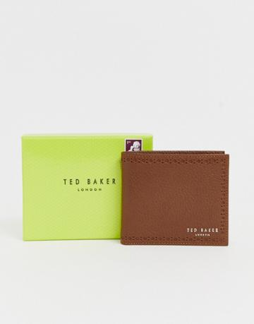 Ted Baker Cobler Rfid Card And Coin Brogue Detail Wallet In Tan