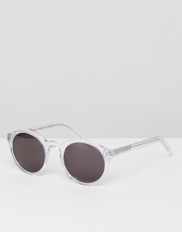 Monokel Eyewear Barstow Round Sunglasses In Crystal - Clear