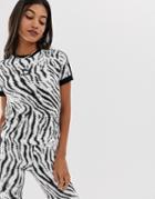 Puma Zebra Print Tight T-shirt - Multi