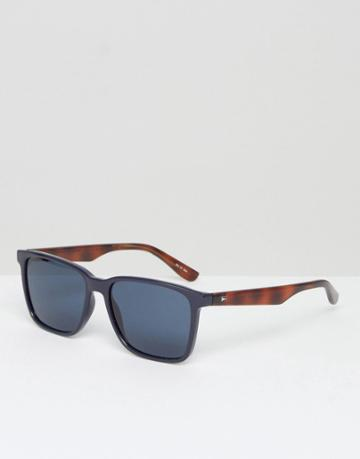 Tommy Hilfiger Square Sunglasses In Black - Blue