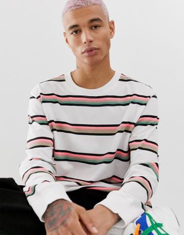Weekday Amped Stripe Sweater - White