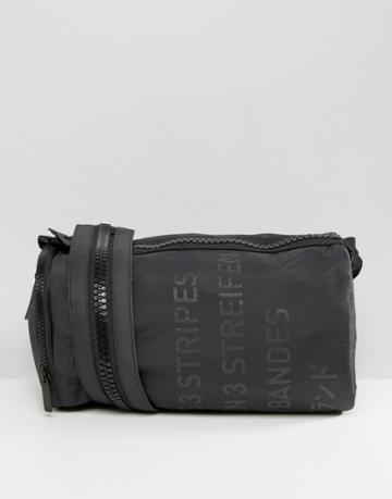 Adidas Originals 3 Stripes Duffle Bag With Chunky Zip Strap - Black