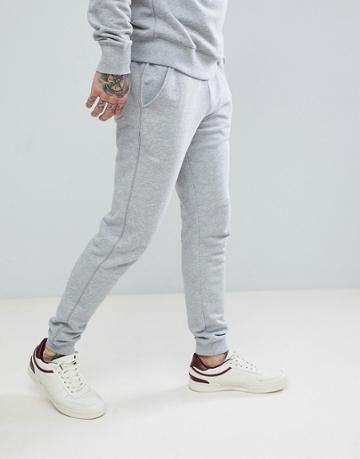 Farah Shalden Slim Fit Cuffed Sweat Joggers In Gray - Gray