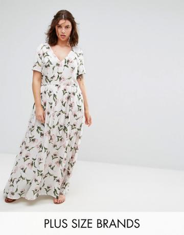 Alice & You Floral Maxi Tea Dress - Multi