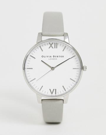 Olivia Burton Ob16tl12 Timeless Leather Watch - Gray