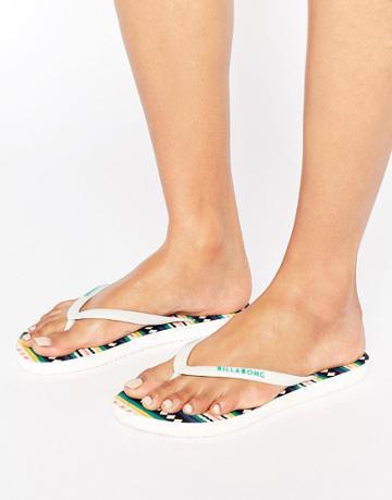Billabong Stripe Print Flip Flops - Multi