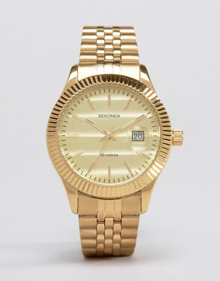 Sekonda Gold Bracelet Watch Exclusive To Asos - Gold
