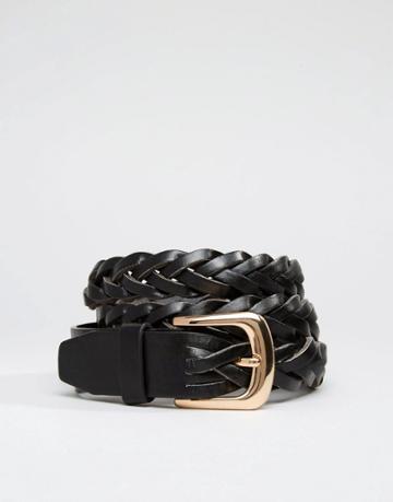 New Look Braid Detail Belt - Black