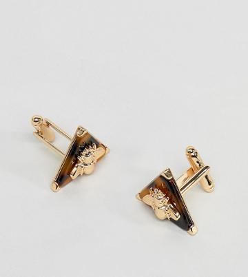 Reclaimed Vintage Inspired Jewelled Cufflinks In Gold Exclusive To Asos - Gold