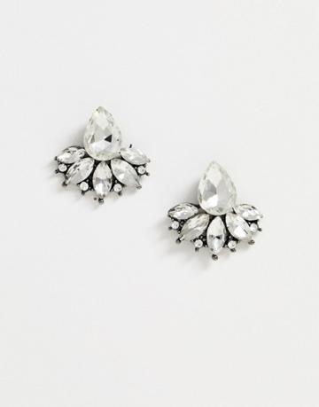 True Decadence Crystal Teardrop Stud Earrings