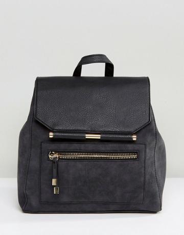 New Look Metal Detail Backpack - Gray