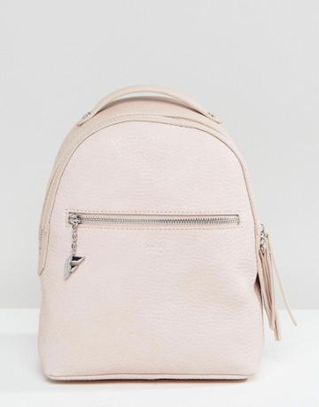 Fiorelli Mini Anouk Blush Rose Tumbled Backpack - Pink