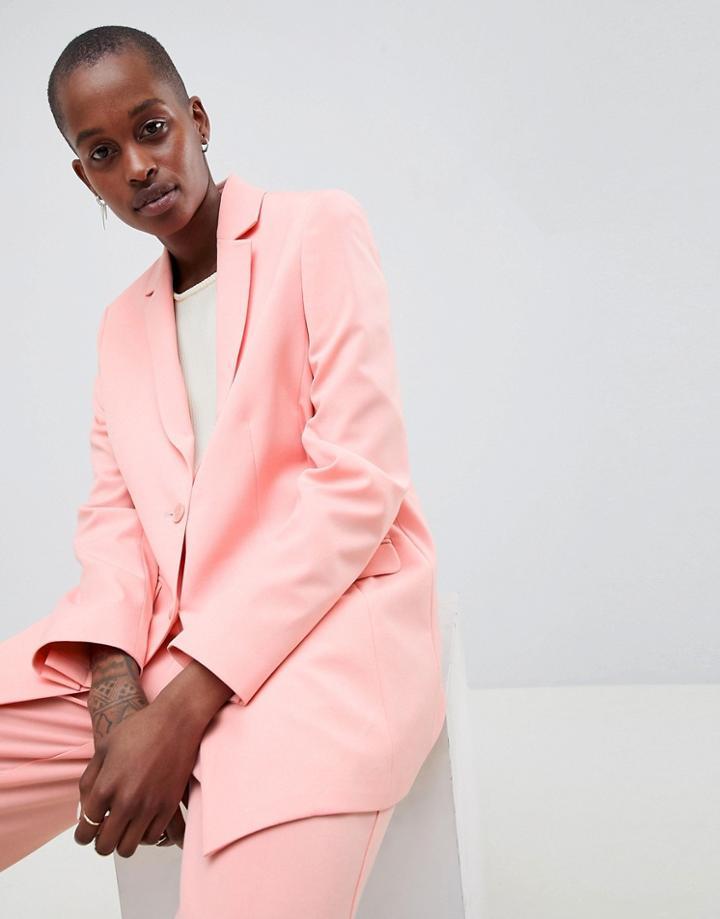 Asos Design Tailored Forever Boyfriend Blazer - Pink