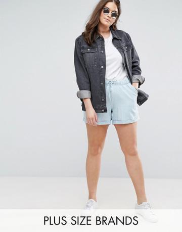 Junarose Chambray Shorts - Blue