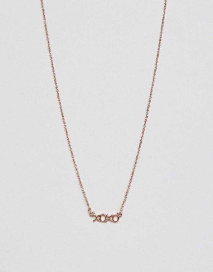 Asos Xoxo Choker Necklace - Copper
