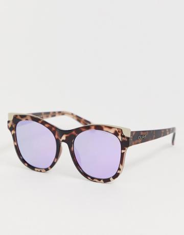 Quay Australia Its My Way Gold Cat Eye Sunglasses In Tort - Brown