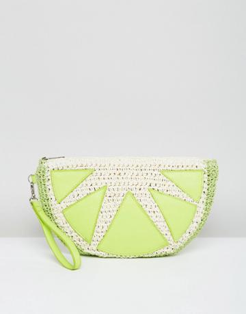 Asos Beach Lime Clutch Bag - Green