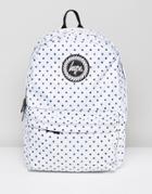 Hype Backpack In Polka Dot Reversible - White
