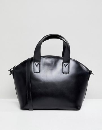 Asos Design Structured Mini Tote Bag - Black