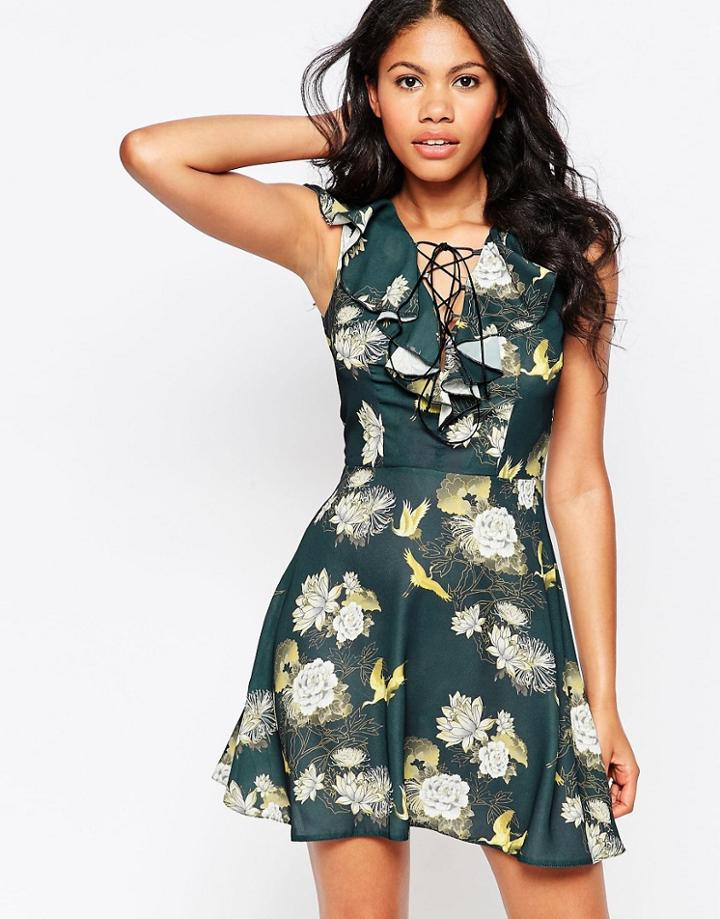 Love Printed Skater Dress - Multi