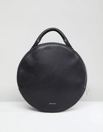 Matt & Nat Kiara Round Backpack With Tote Handle - Black