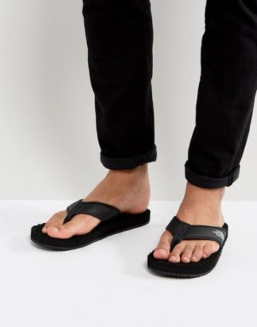 The North Face Base Camp Flip-flop In Black - Black