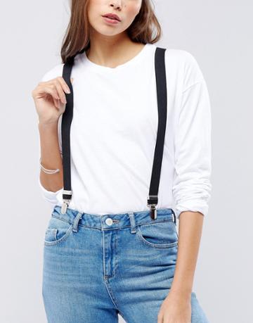 Asos Design Suspenders - Black