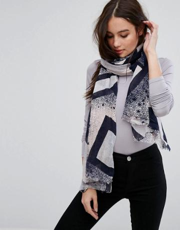 Only Star Printed Scarf - Tan
