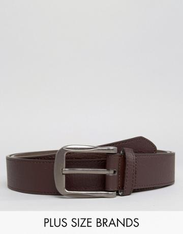Duke Plus Bonded Smart Leather Belt In Brown - Brown
