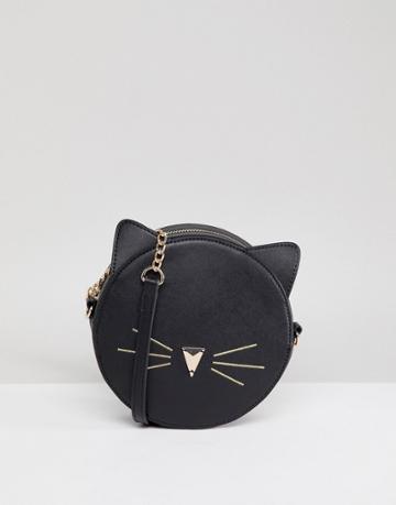 Asos Design Circle Cat Cross Body - Black
