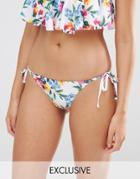 Wolf & Whistle Floral Bikini Bottom - Multi