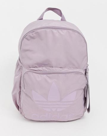 Adidas Originals Sleek Backpack In Purple - Purple