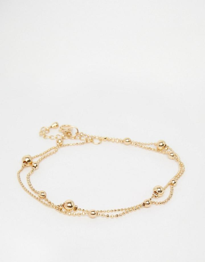 Asos Dot Dash Anklet - Gold